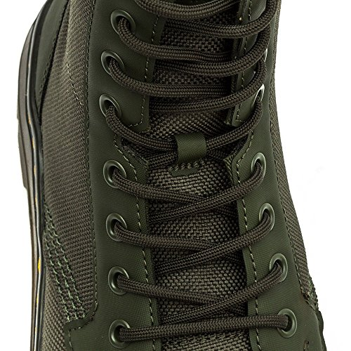 Dr. Martens Mens Combs Washed Canvas Combat Boot Olive FOEQq7Ez