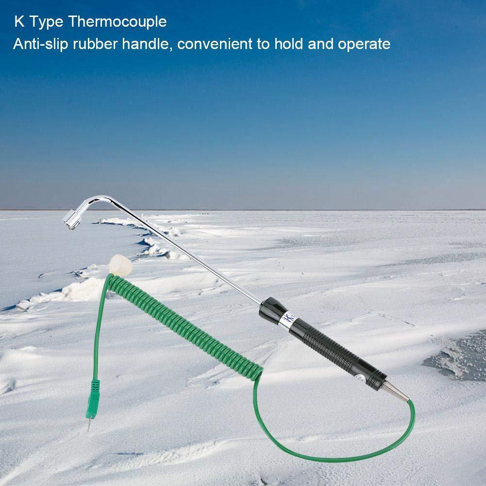 UNI-T UT-107 K Tipo termocoppia superficie solida sensore di temperatura Lunghezza cavo: 1 m sonda Lunghezza: 20 cm Sensore termocoppia