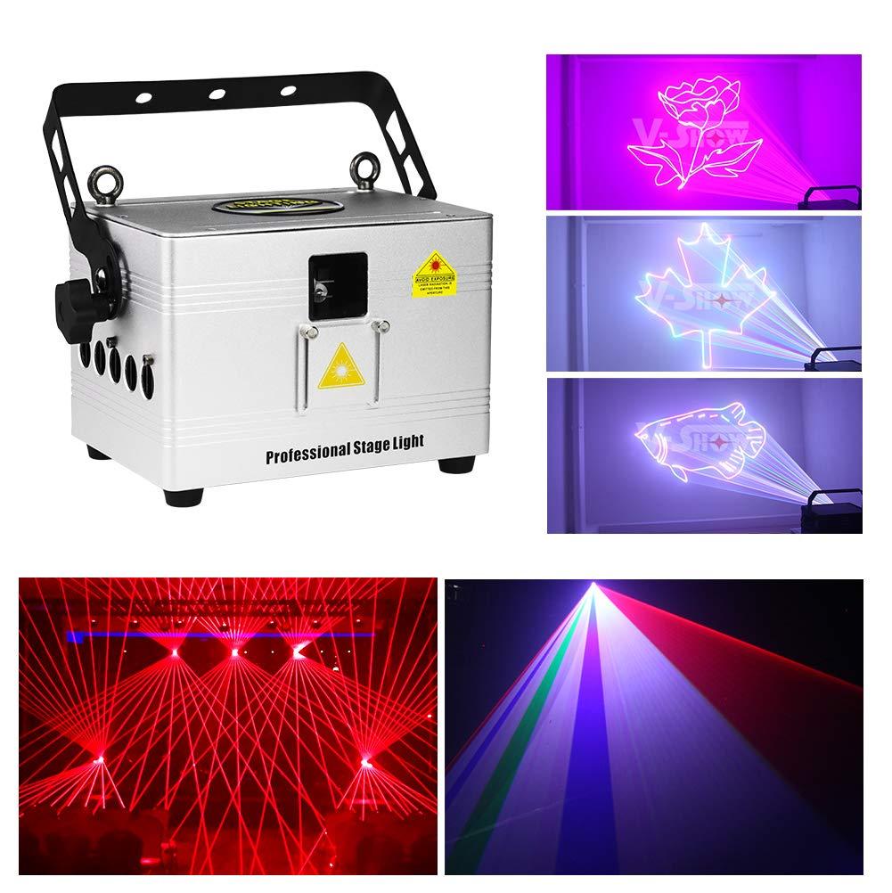 V-Show 3W Animation Laser Lights DMX512 LED Laser Stage RGB Laser Scanner DJ Disco Beam Stage Lighting Effect Laser Projector for KTV, club, party, pub, bar, banquet by V-Show