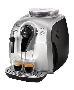 Saeco Xsmall HD8745/47 - Cafetera (Independiente, Máquina espresso, 1 L, Molinillo integrado, 1400 W, Negro, Plata): Amazon.es: Hogar