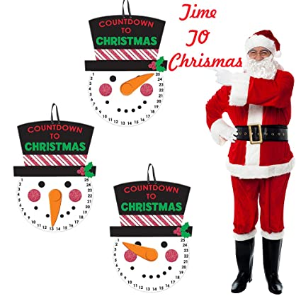 Days Until Christmas Countdown.Amazon Com Zeyer Christmas Countdown Decoration Indoor
