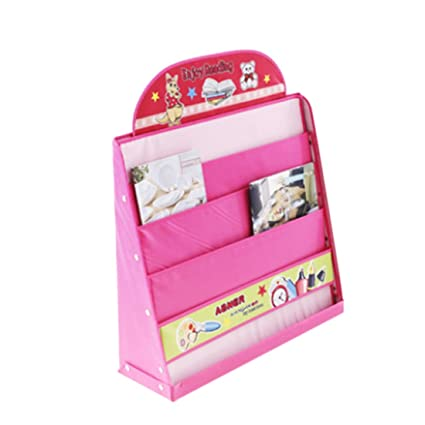 Fcoson Oxford Fabric Bookshelf And Storage Book Rack For Kids 3 12 Pink