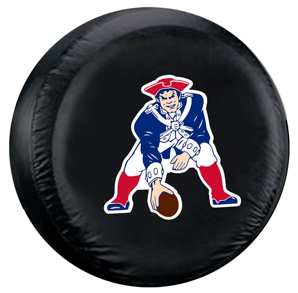 New England Patriots Black Throwback Design Tire Cover - Standard Size Fremont Die 023245984768