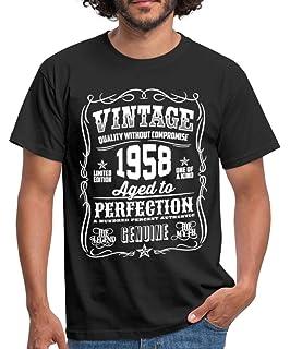 403341321 Spreadshirt 60th Birthday 1958 Birth Year Slogan Typography Men's T-Shirt