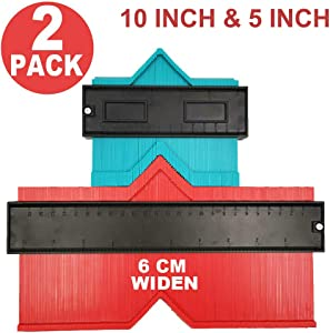 """Relitec Contour Gauge Duplicators, Simple Shape Contour Gauge Duplicator, Instant Template For Curved and Odd Shapes, Easy Master Outline Gauge Tool for Cutting, Set of 2 (5"""" and 10"""" Widen)"""