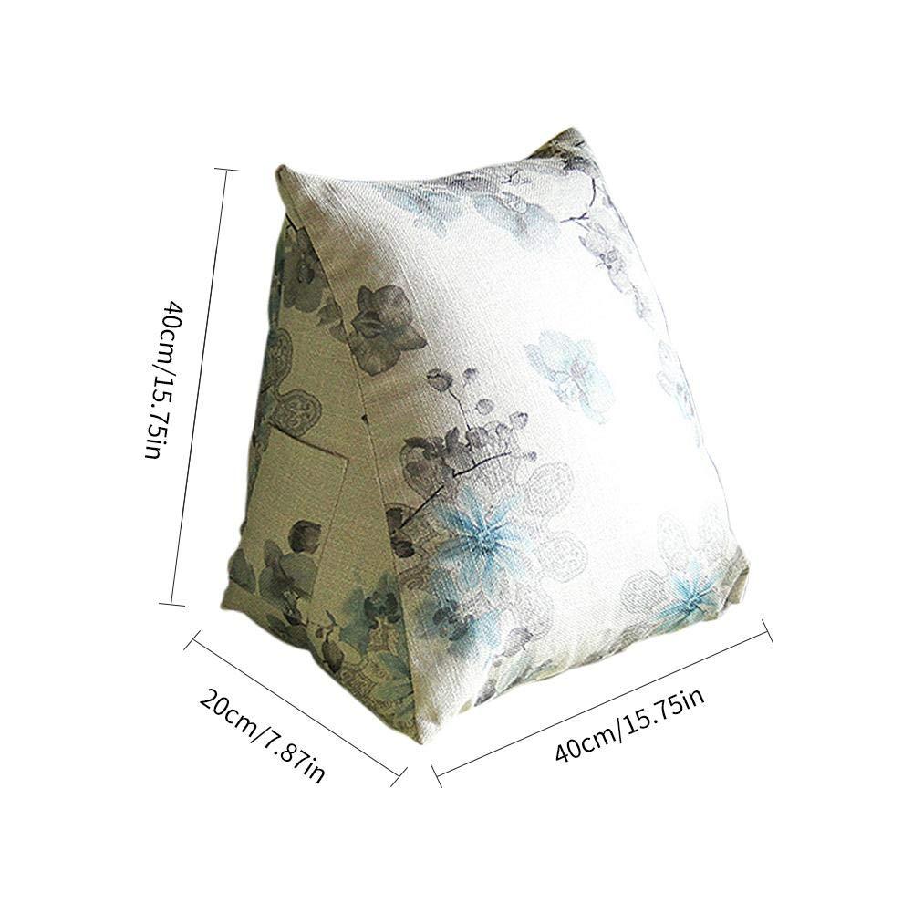 Reading & Bed Rest Pillows Home & Kitchen Blue HALOViE Back Wedge ...