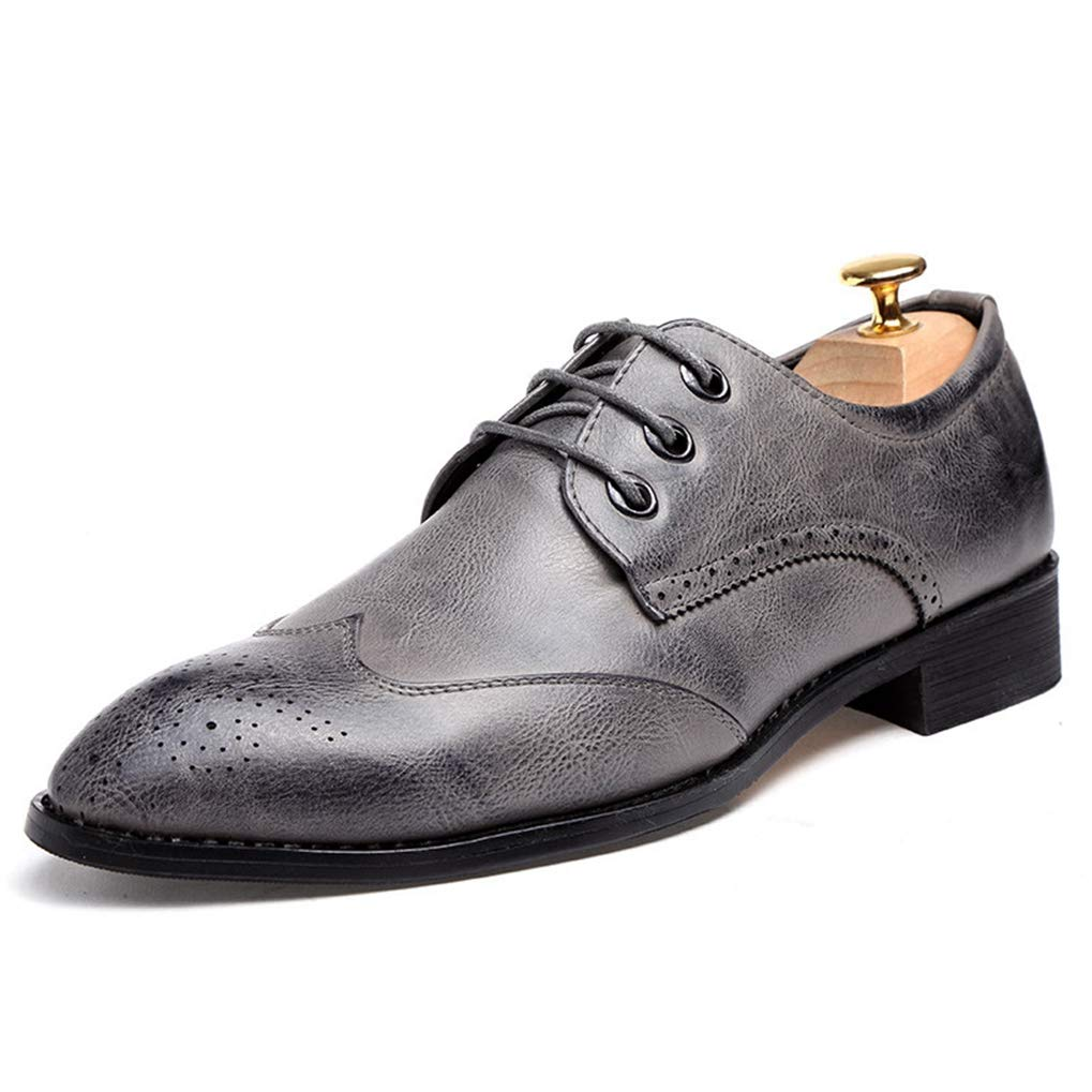 Starttwin Oxford Shoes for Men Fashion Wingtip Breathable Wedding Brogue Dress Shoes
