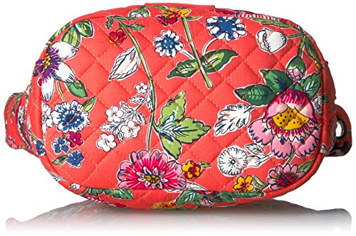 Mini Cotton Floral Signature Hobo Crossbody Coral Carson Vera Bradley wqORE4