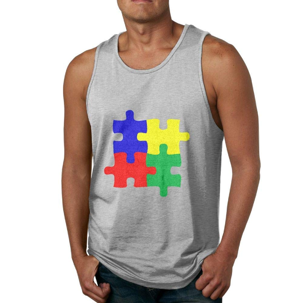 Wlhmy Tank Top Autism Awareness Puzzle Sleeveless Shirt Tee For Summer 9807