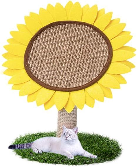 POPETPOP Diseño de Girasol Rascador de Gato - Marco de ...