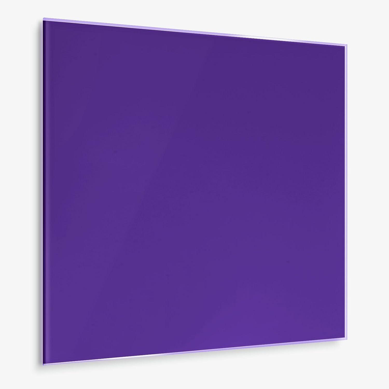 casa pura® Glasmagnettafel im modernen Design | beschriftbar & magnethaftend | verschiedene Farben und in 2 Größen | gelb 45x50cm