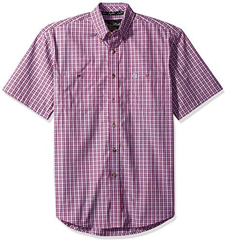 Wrangler Men's Shirt (Red/Blue) - 4