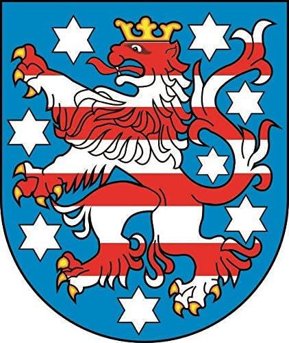 U24 Aufkleber Thüringen Wappen Autoaufkleber Sticker Konturschnitt Auto