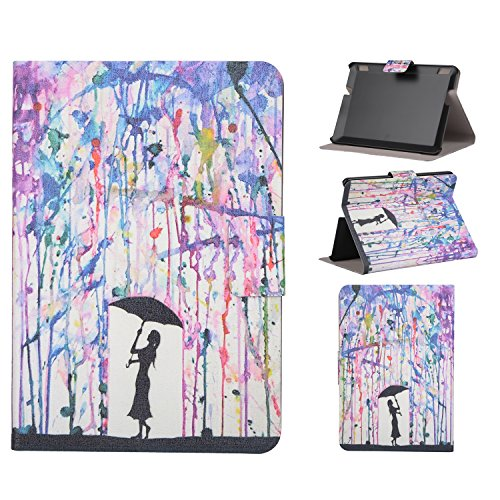 Kindle Fire HDX 7 Case, Gift-Hero(TM) Ultra Slim PU Leather Stand Magnetic Case with [Auto Wake/Sleep Feature] Folio Cover for Amazon Kindle Fire HDX 7.0 inch (Color Painting Girls) (Cute Kindle Hdx Covers)