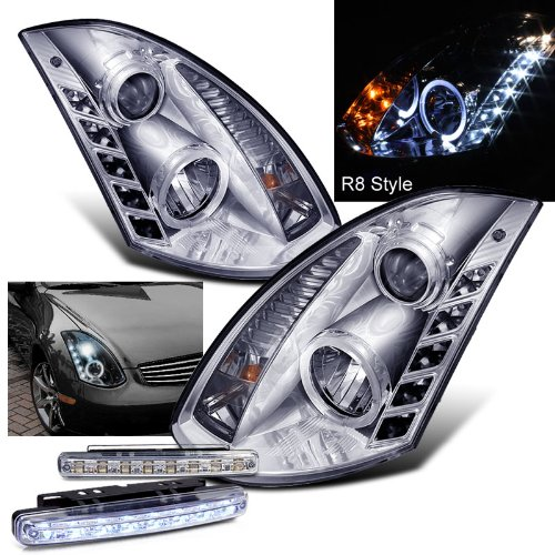 2005 INFINITI G35 HALO PROJECTOR HEADLIGHTS HEAD LIGHTS 2DR + 8 LED BUMPER LAMPS