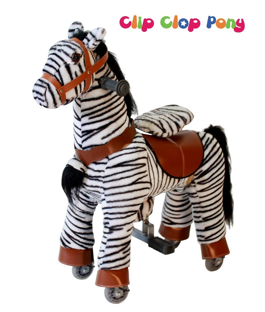 Nouveau bébé enfant bébé Zèbre Poney–Clip Clop–TM Ride/Cycle Mode Cheval à bascule–Petit |finest Royal Kiddy + qualité de charge jusqu'à 35k