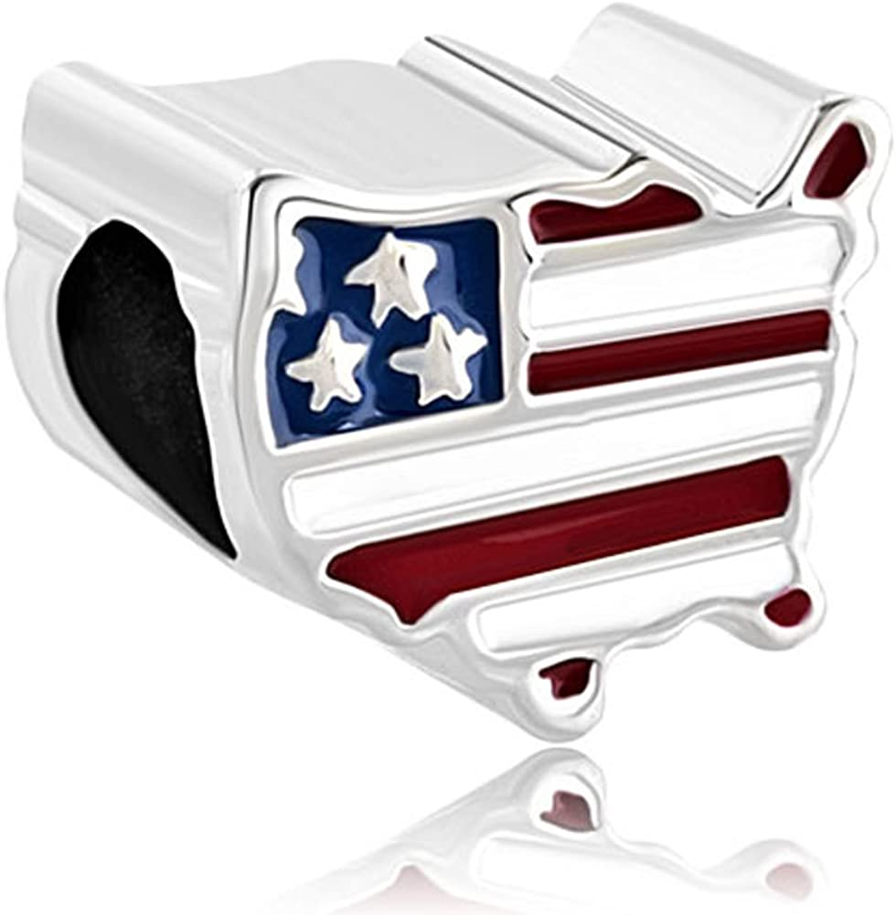 LovelyJewelry Map USA Flag...