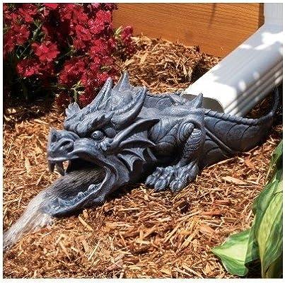 Amazon.com : Dragon Rain Gutter Statue Garden Statues Garden ... on rain gutter gardening larry hall, gutter gardening larry hallrain designs, rain gutter gardening books, rain gutter gardening supplies,