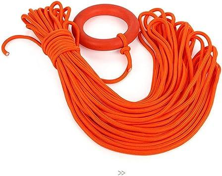 Línea de vida de 30 metros Escalada de seguridad pulsera de anillo flotante cuerda flotante (naranja)