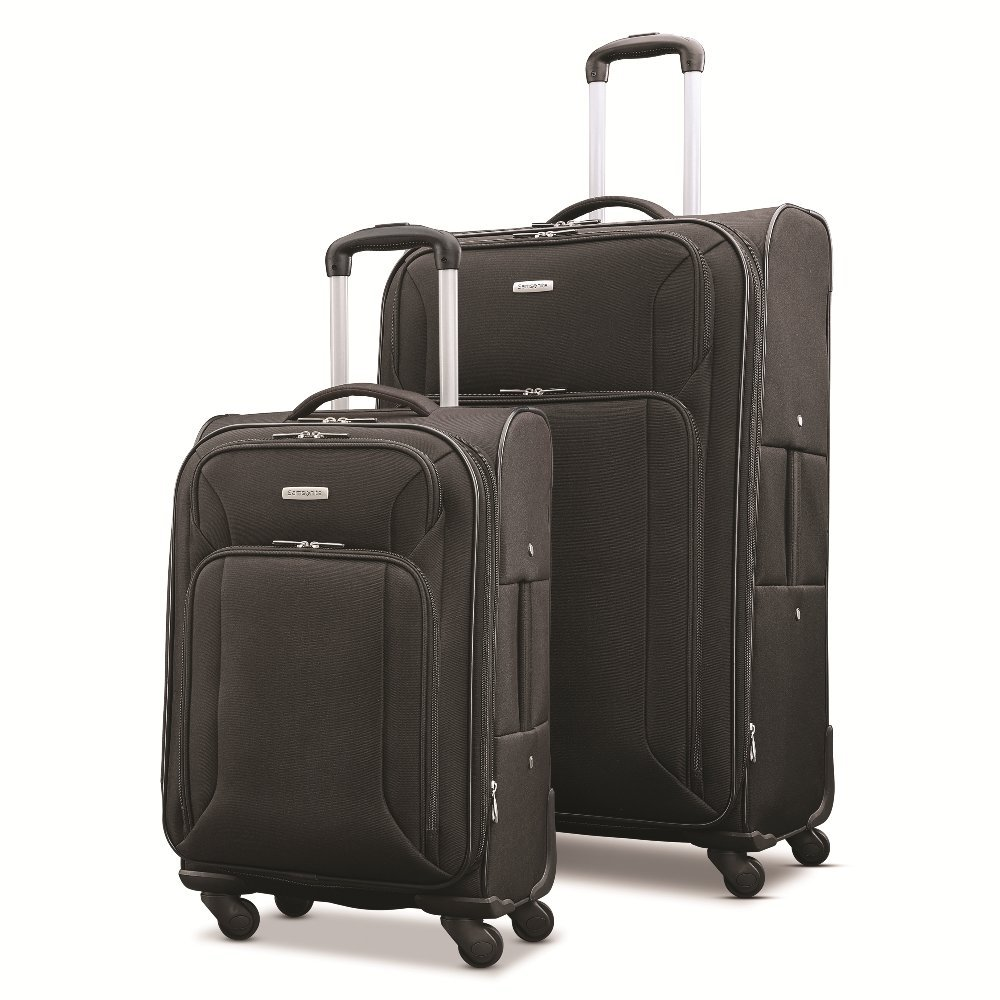 Samsonite Victory 2 Piece Nested Softside Set (21''/29''), Black, Only at Amazon