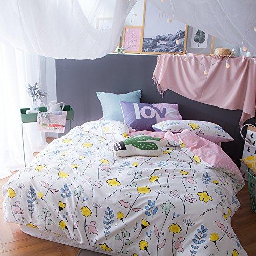 TheFitペイズリーテキスタイル寝具for Adult u1980パステル花布団カバーセット100 %コットン、クイーンセット、4ピース B06XT3NMMD