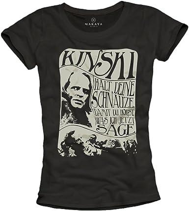 MAKAYA Cierra la Boca, lo Que se Escucha lo Que Digo Ahora - Camiseta Negra para Mujer con Frases en aleman