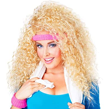 Admirable Amazon Com California Costumes Womens Lets Get Physical Wig Hairstyle Inspiration Daily Dogsangcom