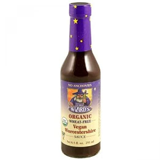 The Wizard's Organic Gluten Free Vegan Worcestershire Sauce, 8.5 Ounce