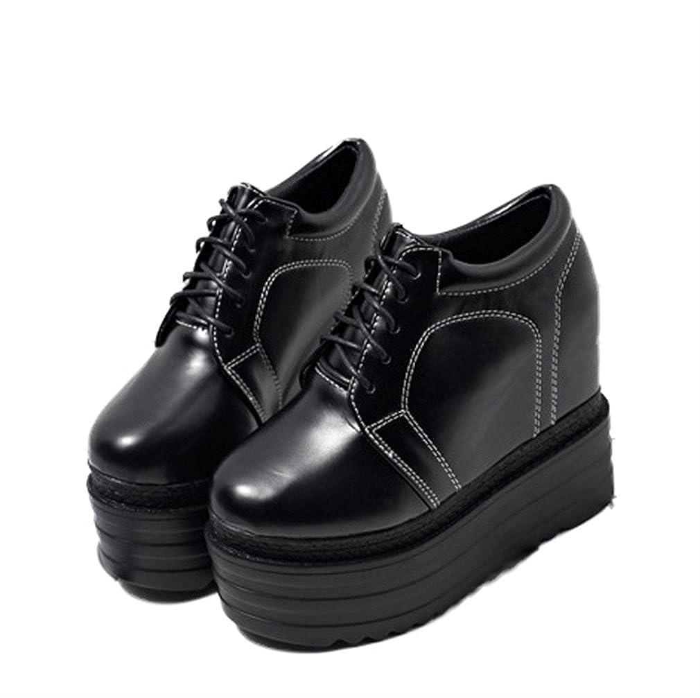 Xianshu Xianshu Xianshu Damen Schnürsenkel Höhenruder Schuhe Plattform Schuhe Keile Fersen ec5c43