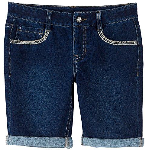 Imperial Star Big Girls Embroidered Bermuda Shorts 16 Colette denim blue