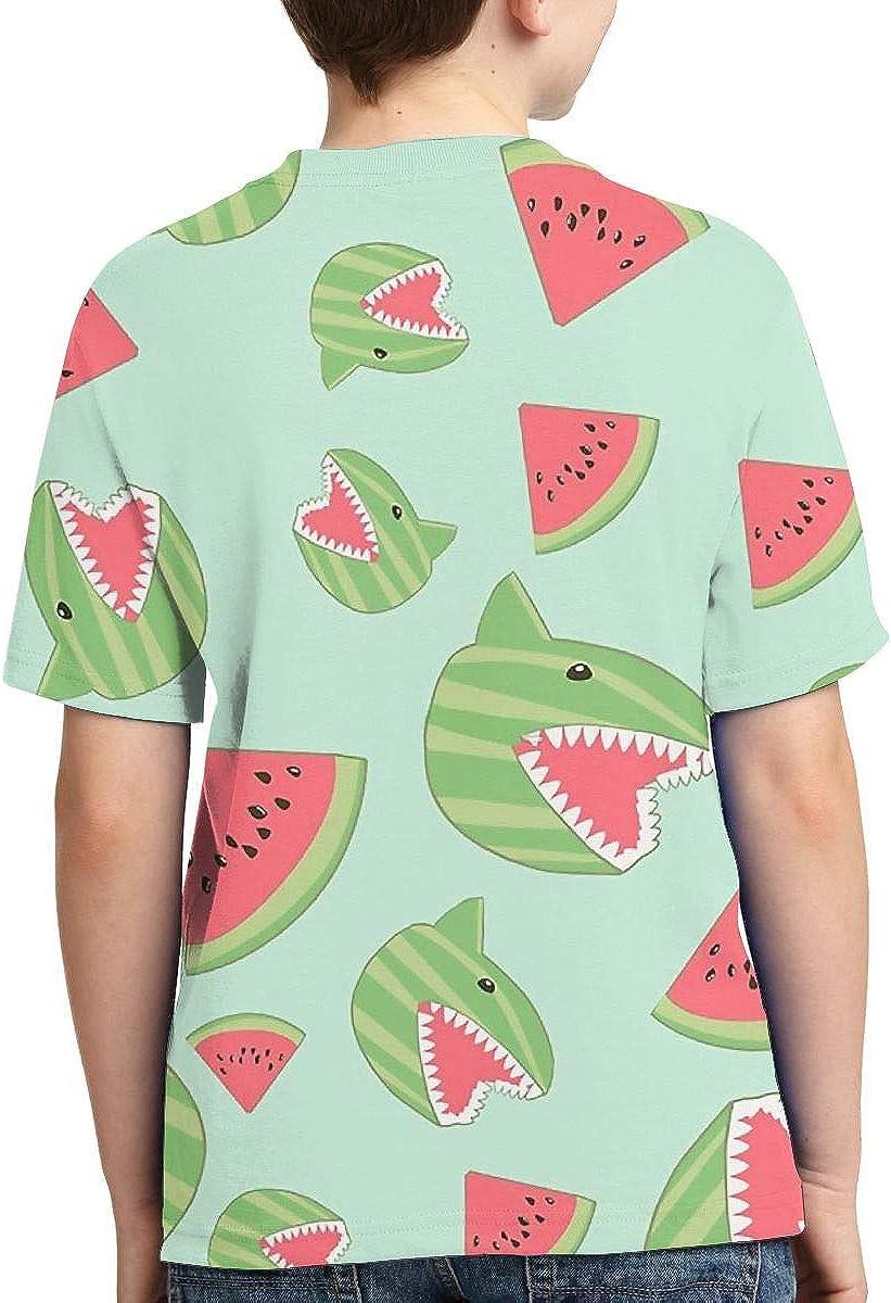 Camisas de Manga Corta de tiburón sandía para niños ...