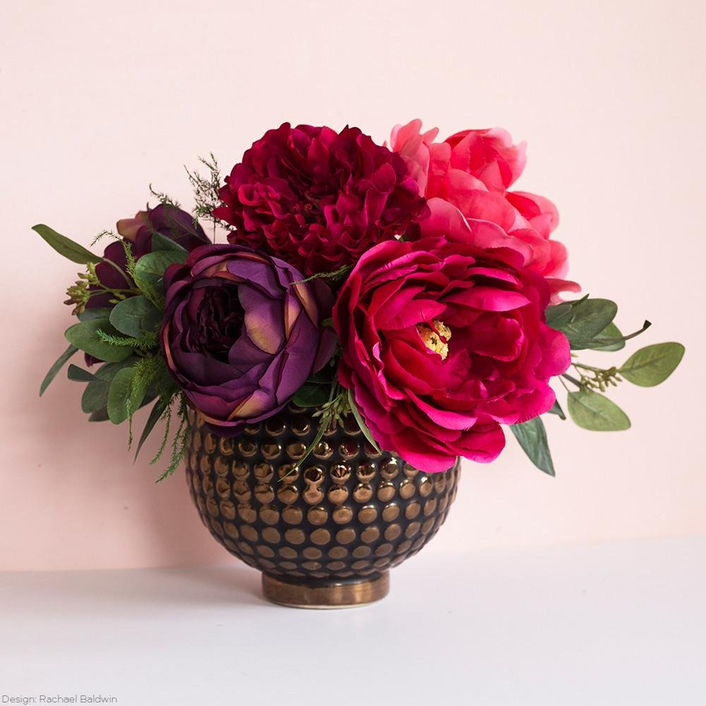 Amazon.com: Silk Flowers Eggplant English Cabbage Rose Stem21\