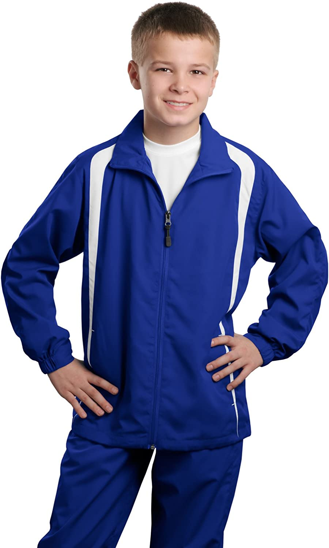Sport-Tek Youth Athletic Lightweight Raglan Jacket/_Purple//White