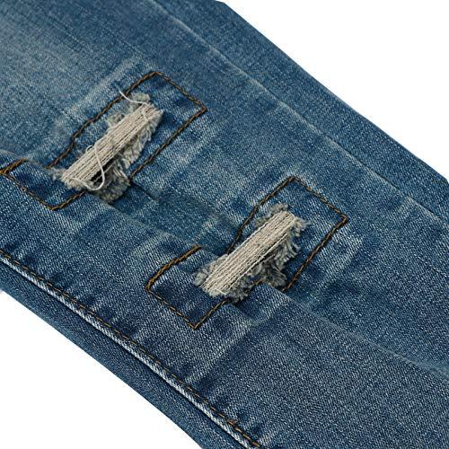 Fit Jeans Blue Pantaloni Con Strappati Denim Pop Slim Extreme 7Baqtq