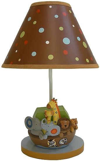 Amazon.com : Lambs & Ivy Lamp w/Shade & Bulb - S.S. Noah : Nursery ...