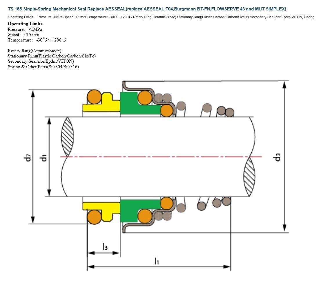 ITACO R3 16MM Mechanical Water Pump Seal Kit Blower Diving Circulating TS 155