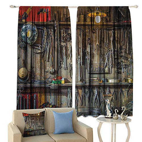 Man Cave Decor Blackout Curtains Vintage Tools Hanging On A Wall in A Tool Shed Workshop Fixing Equipment Home Garden Bedroom Outdoor Indoor Wall Decorations from cobeDecor