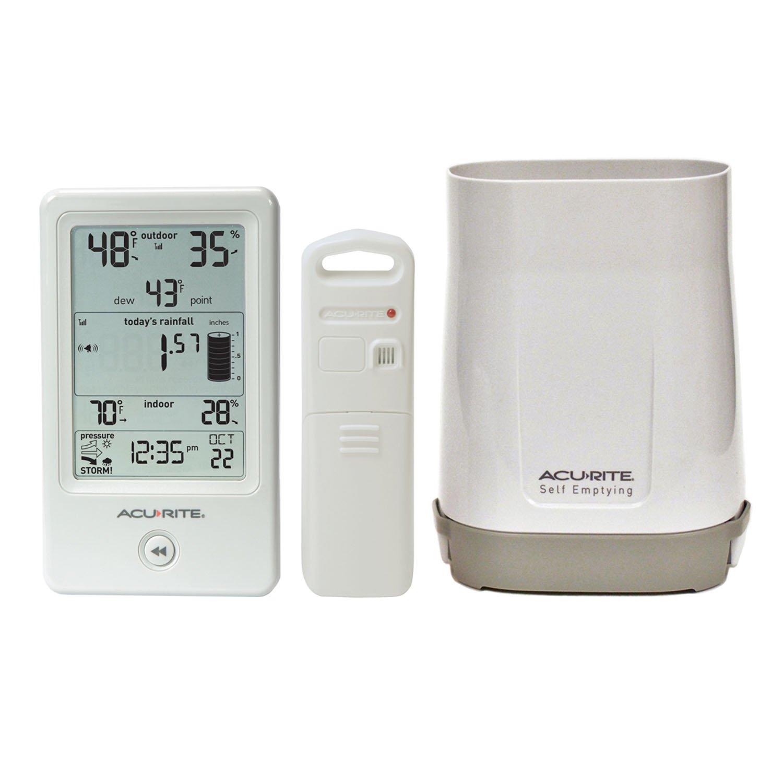 Amazon.com  AcuRite 01089M Rain Gauge with Thermometer   Humidity  Home    Kitchen 4b265758e552f