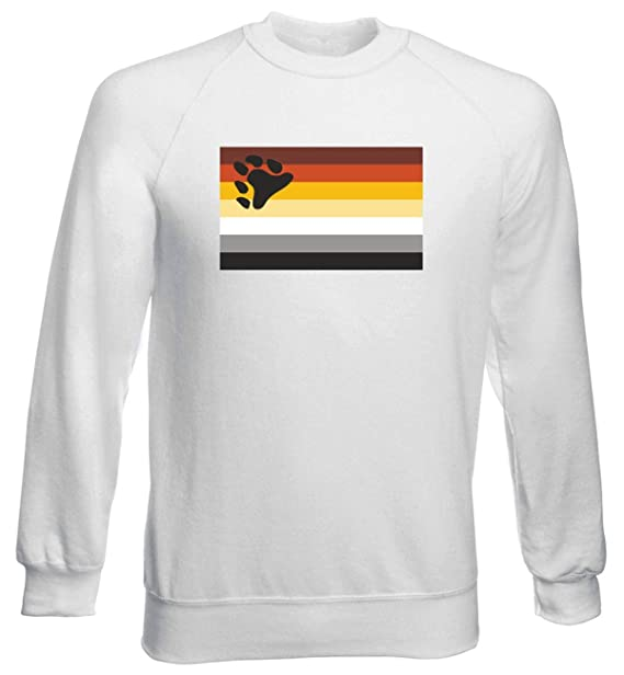 Sudadera por Hombre Blanco TM0251 The International Bear Brotherhood Flag: Amazon.es: Ropa y accesorios