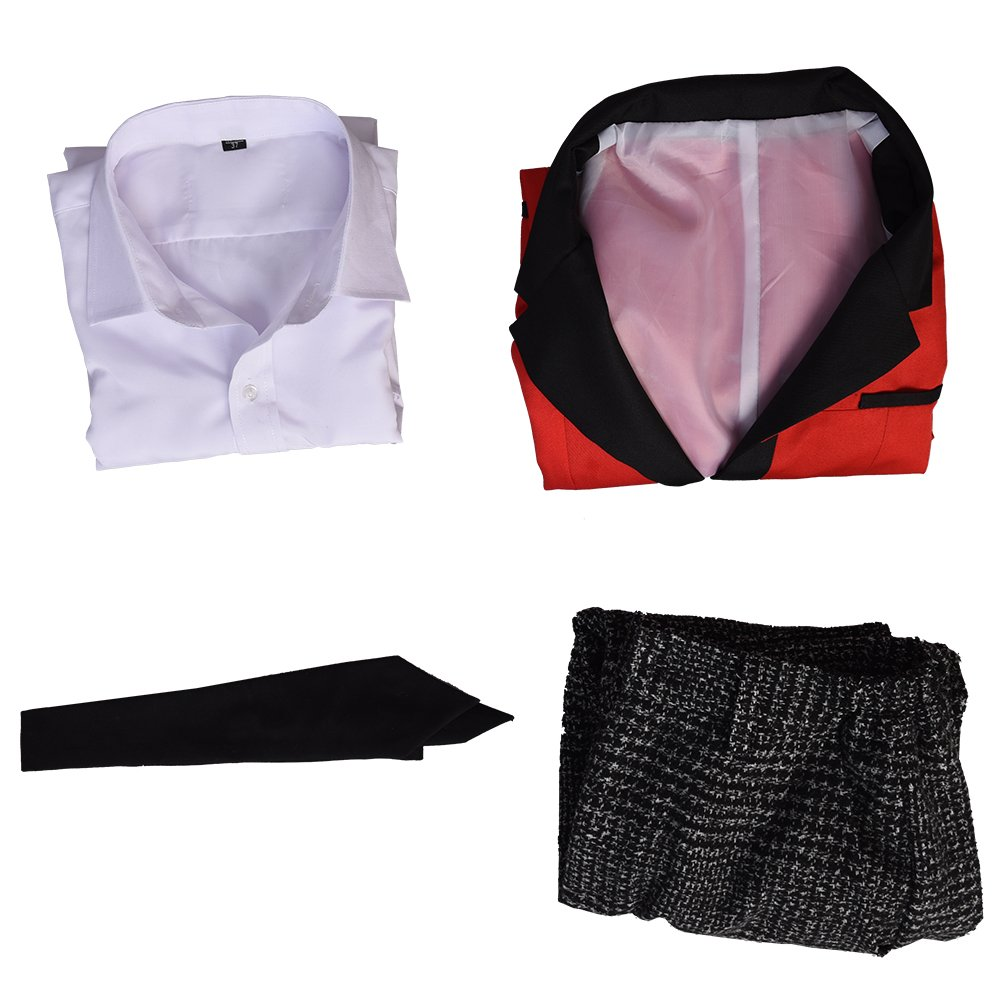 starfun Kakegurui Compulsive Gambler Suzui Ryota Cosplay Costume Manyuuda Kaede School Uniform Suit Red by starfun (Image #5)