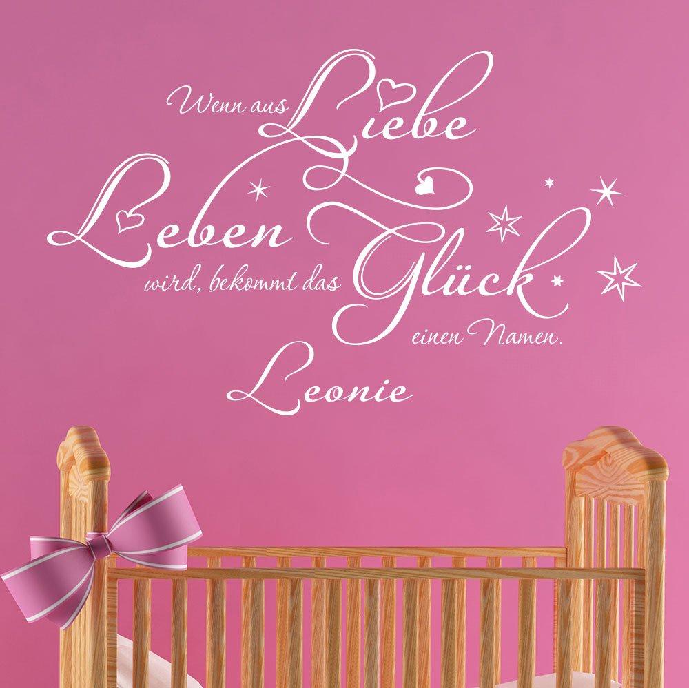 Klebeheld Wandtattoo Wenn Aus Liebe Leben Wird Babyzimmer Bekommt