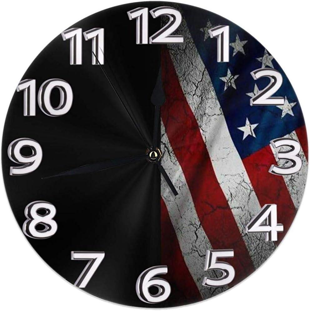 Archiba Reloj de Pared con Bandera Estadounidense de Tumblr ...