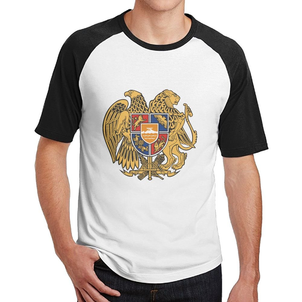 Coat of Arms of Armenia Abali Mens Hip Hop Cotton 3D Print Short Sleeve T-Shirts