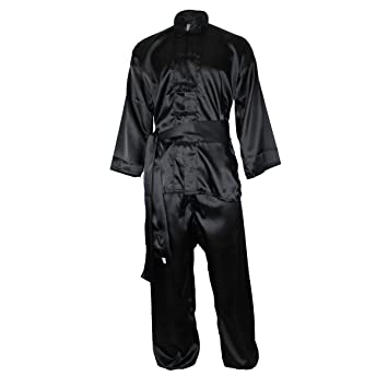 DerShogun traje Wushu negro, varios tamaños - Negro, 170 ...