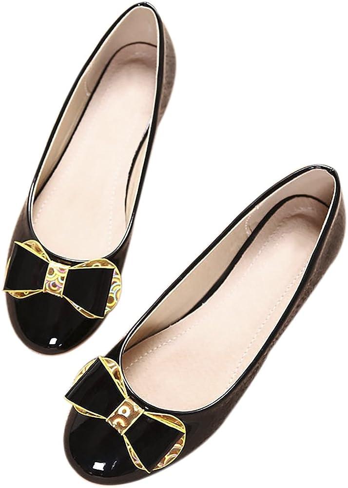 QZUnique Womens Pointy Toe Slip on Ballet Comfort Multi Color Suede Shoe Flat