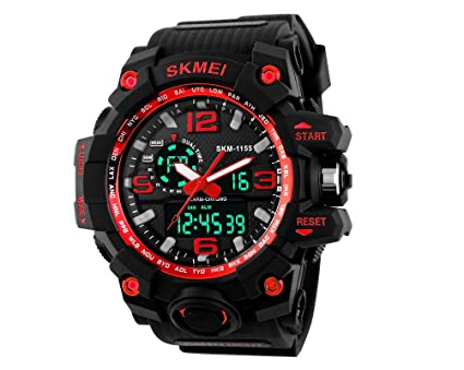 Image Unavailable. Image not available for. Color: Relojes de Hombre Sport Water Resistant Watch Digital ...