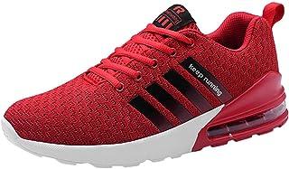 HCFKJ Scarpe Sportive Sneaker Sneakers Alte da Uomo con Cuscinetti d'Aria ad Alto Elasticizzato e Fondo in Tessuto con Scarpe da Corsa