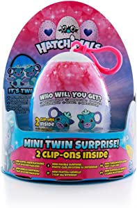 Hatchimals Mini Twin Surprise Egg Toy Featuring 1 of 4 Fun Collectible Mini Dolls | Glittering Garden Surprise with 2 Clip Ons Inside | Who Will You Get? | Kids Toys for Boys & Girls