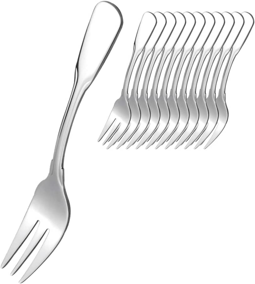 Set of 12 Stainless Steel Pastry Forks