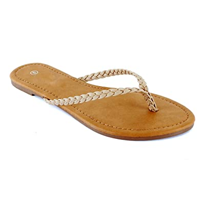 Guilty Heart Womens Beach Slip On Thong Flip Flop - Casual Comfortable Flat Sandal... | Flip-Flops